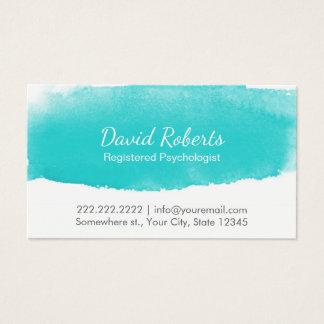 Psychologe-Ratgeber-Aquarell-Verabredung Visitenkarte