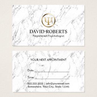 Psychologe-Ratgeber-elegante Marmorverabredung Visitenkarte