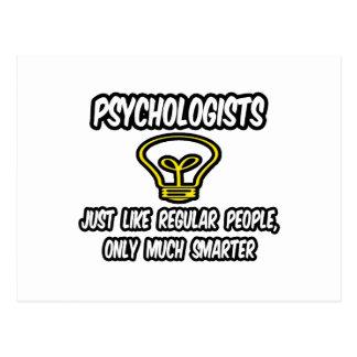 Psychologe-… regelmäßige Leute, nur intelligenter Postkarte