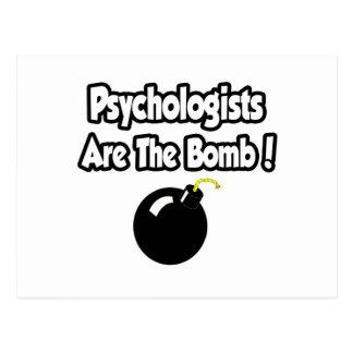 Psychologen sind die Bombe! Postkarte