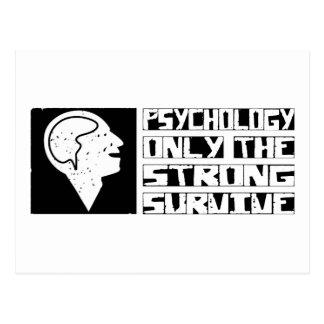 Psychologie überleben postkarte