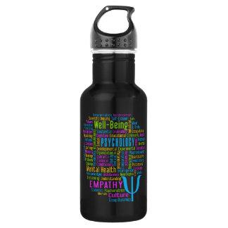 PSYCHOLOGIE Wort-Wolke Trinkflaschen