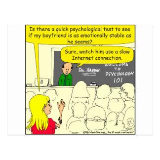 psychologischer Test 585 für Freund-Cartoon Postkarte