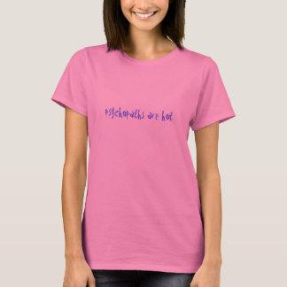 Psychopathe sind heiß (hellblau auf Rosa) T-Shirt