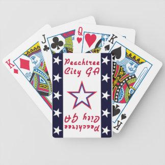 PTC GA mit Weiß-Sternen auf blauem Feld Bicycle Spielkarten