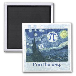 PU in den Himmel-Geschenk-Ideen Quadratischer Magnet