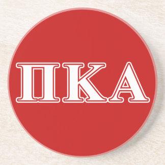PU-Kappa Alpha weiße und rote Buchstaben Sandstein Untersetzer