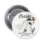 PU-Rate Piraten-PU-Tageshemden und -geschenke Button