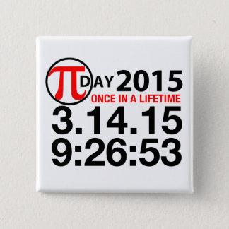 PU-Tag 2015 Quadratischer Button 5,1 Cm