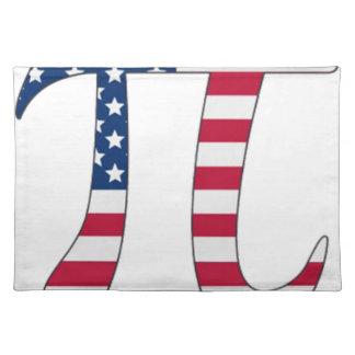 PU-Tagesamerikanische Flagge, PU-Symbol Tischset