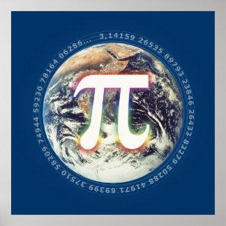 PU-Zahl auf Erde - Matheplakat Poster