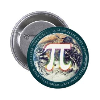 PU-Zahl auf Mathe der Erde  Runder Button 5,7 Cm