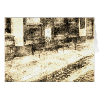 Pub-stillstehender Platz Vintag Karte