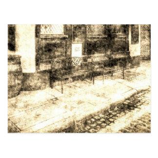 Pub-stillstehender Platz Vintag Postkarte