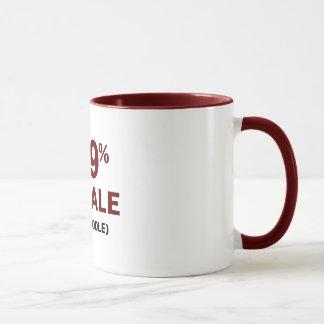 Pudel 99% Frau-1% Tasse