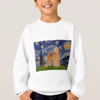 Pudel (Aprikose 9) - sternenklare Nacht Sweatshirt