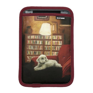 Pudel auf Stuhl-Haustier-Porträt Sleeve Für iPad Mini