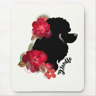 Pudel-Blumenhundekunst-Mausunterlage Mousepad