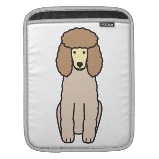 Pudel-HundeCartoon iPad Sleeve
