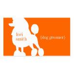Pudel-Hundegroomer-Visitenkarte
