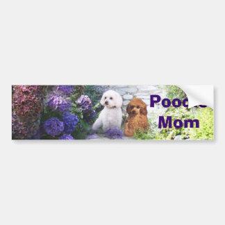 Pudel-Mamma-AutoaufkleberHydrangea Autoaufkleber