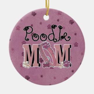 Pudel MAMMA Rundes Keramik Ornament