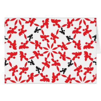 Pudel-Musterrot Grußkarte