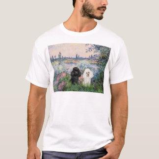 Pudel-Paare (BW) - durch die Seine T-Shirt