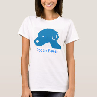 Pudel-Power-blauer HundeT - Shirt