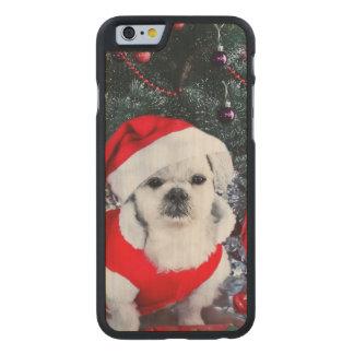 Pudel Sankt - Weihnachtshund - Weihnachtsmann-Hund Carved® iPhone 6 Hülle Ahorn