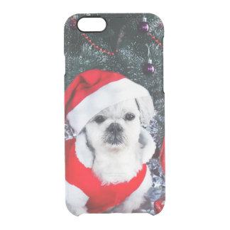 Pudel Sankt - Weihnachtshund - Weihnachtsmann-Hund Durchsichtige iPhone 6/6S Hülle