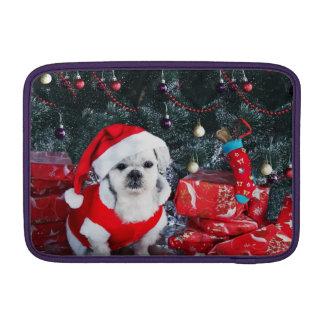 Pudel Sankt - Weihnachtshund - Weihnachtsmann-Hund MacBook Air Sleeve