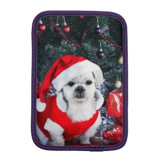 Pudel Sankt - Weihnachtshund - Weihnachtsmann-Hund Sleeve Für iPad Mini