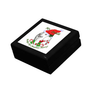 Pudel-Weihnachten fröhlich Geschenkbox