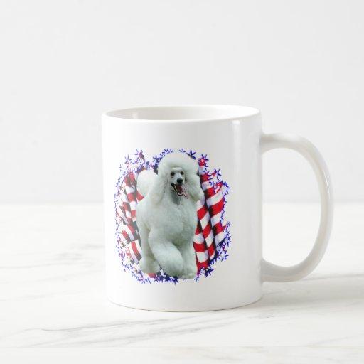 Pudel-(weißer) Patriot Teetasse