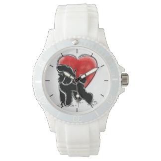 Pudel-Zeichnen Armbanduhr