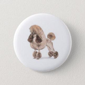 Pudel -- Zeigen Sie Mantel Runder Button 5,7 Cm