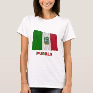 Puebla, das nicht offizielle Flagge wellenartig T-Shirt