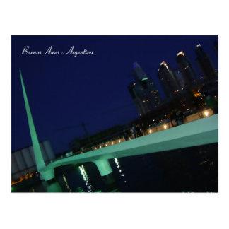 Puente de la Mujer, Buenos Aires, Argentinien Postkarte