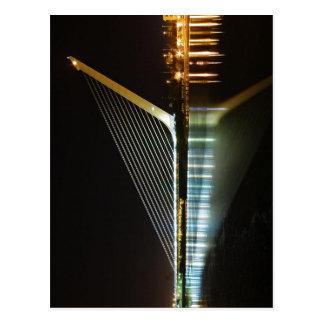 Puente del Alamillo Sevilla nachts. Die Brücke w Postkarten