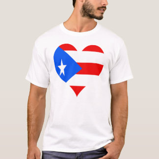puerot rican Herz T-Shirt