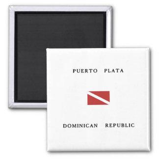 Puerto Plata Dominikanische Quadratischer Magnet