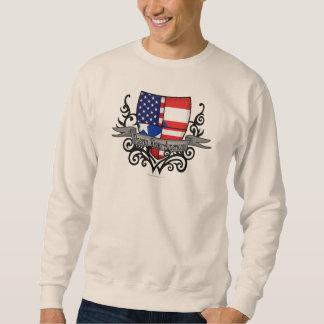 Puerto Rican-Amerikanische Schild-Flagge Sweatshirt
