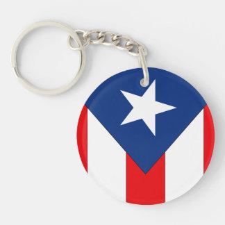 Puerto Rico2 Flaggen-Entwurf - Schlüsselanhänger