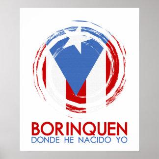 Puerto Rico Borinquen Poster