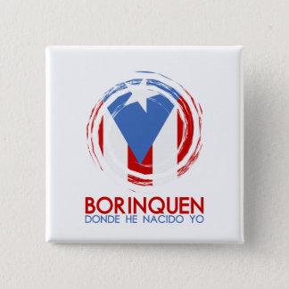 Puerto Rico Borinquen Quadratischer Button 5,1 Cm