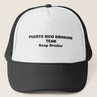 PUERTO RICO, das TEAMKeep Drinkin TRINKT Truckerkappe