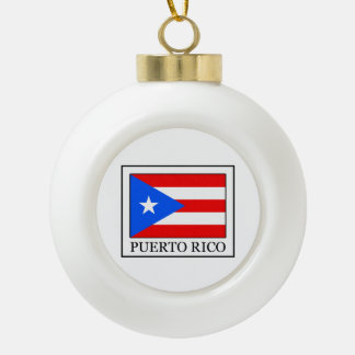 Puerto Rico Keramik Kugel-Ornament