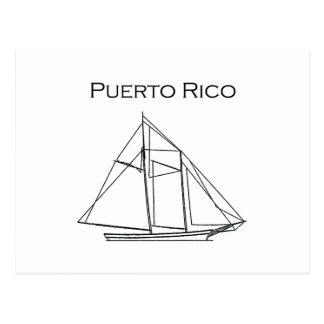 Puerto Rico (Schooner-Segelboot) Postkarte