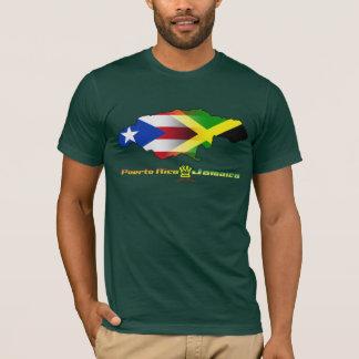 Puerto- Rico und Jamaika-Flagge 2 T-Shirt